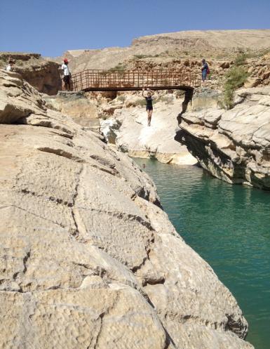 Pele-Hallam Young swimming: Ash Sharqihah, Oman: